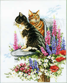Кошки (Cats and foxgloves)