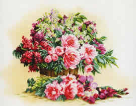 Букет лилий и пионов (Bouquet of Lilacs and Peonies)