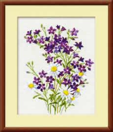 Полевые цветы вышивка крестом схемы бесплатно