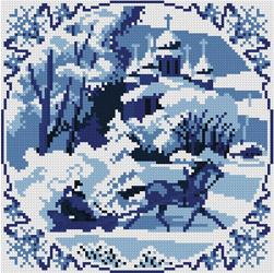 Схема вышивки крестом зимние сны