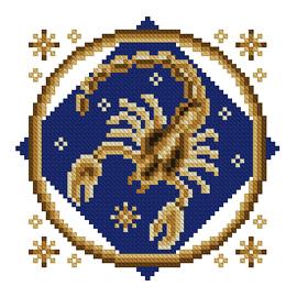 Рак знак зодиака схема вышивки
